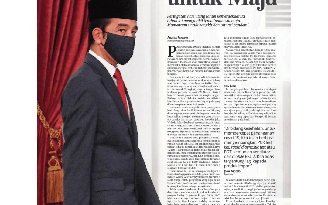 ASI Eksklusif Penting di Tengah Pandemi Covid-19, Media Indonesia, 14 Agustus 2020