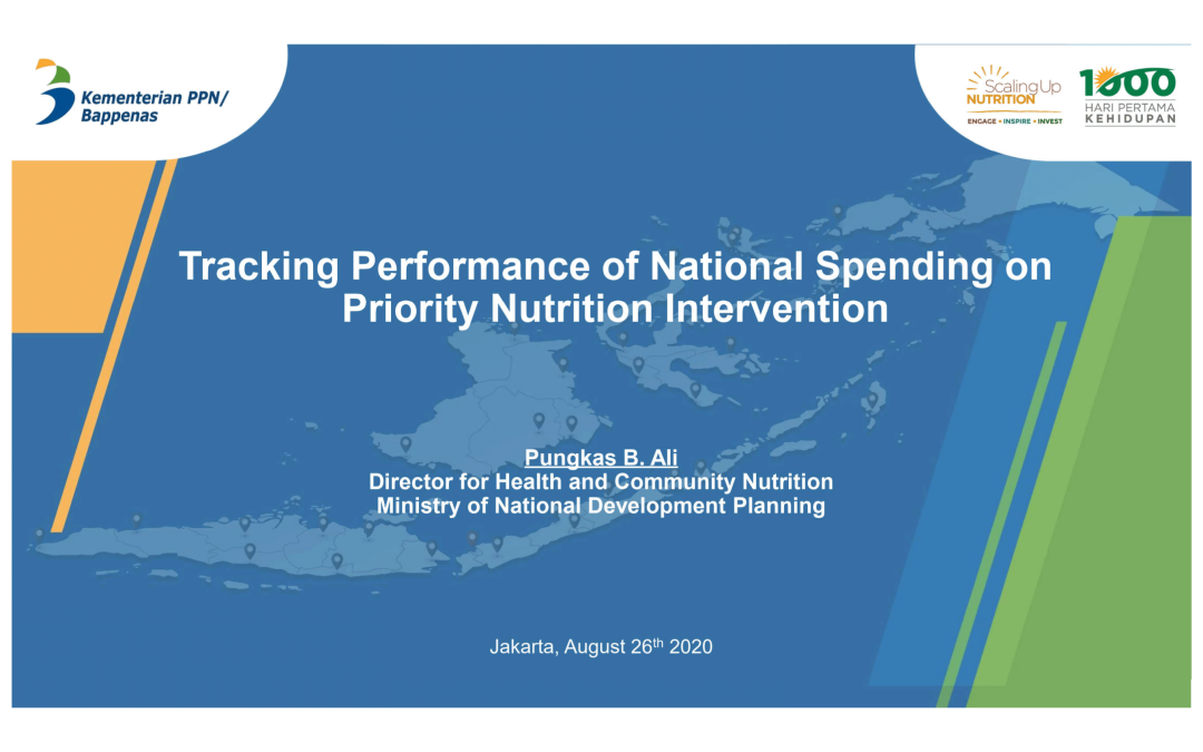 Tracking Performance of National Spending on Priority Nutrition