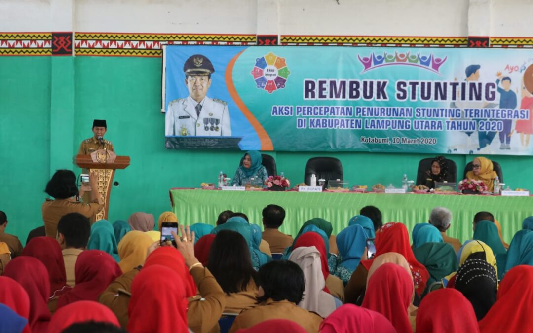 Stunting Discussion, Action to Accelerate Integrated Stunting Reduction in North Lampung Regency in 2020