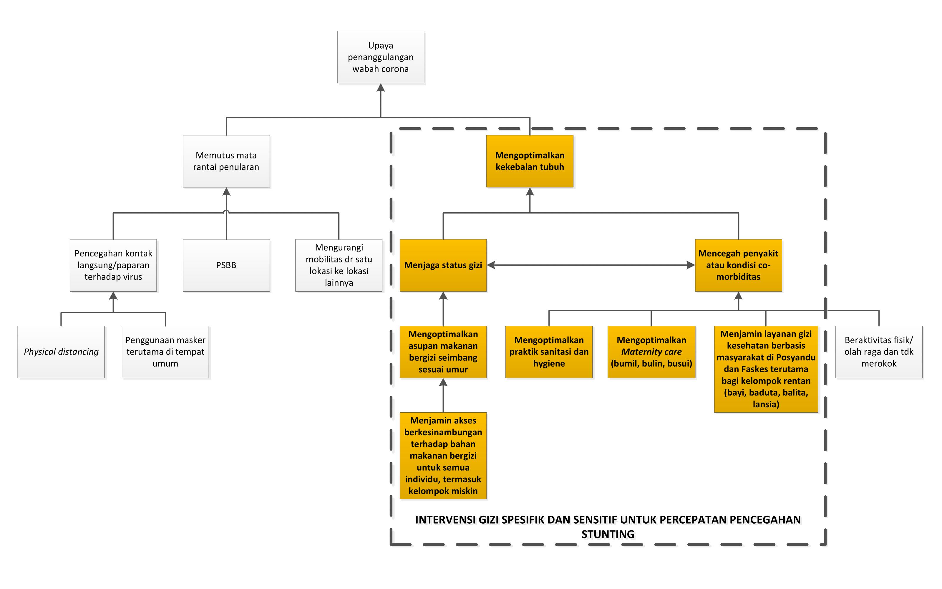 Skema Intervensi Gizi Spesifik dan Sensitif dalam Upaya Penanggulangan Wabah Corona
