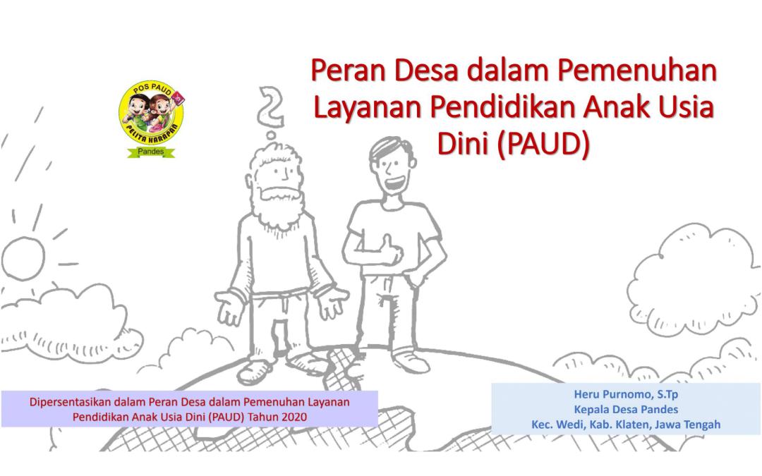 Webinar PAUD: Praktik Baik Kades Pandes