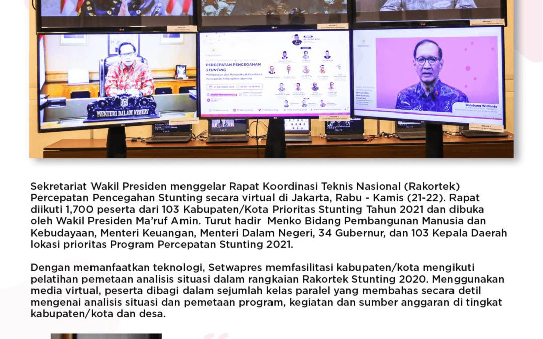Rapat Koordinasi Teknis Konvergensi Percepatan Pencegahan Stunting Nasional 21-22 Oktober 2020
