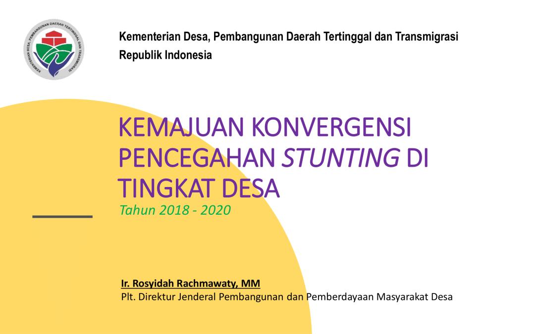 Kemajuan Konvergensi Pencegahan Stunting di Tingkat Desa