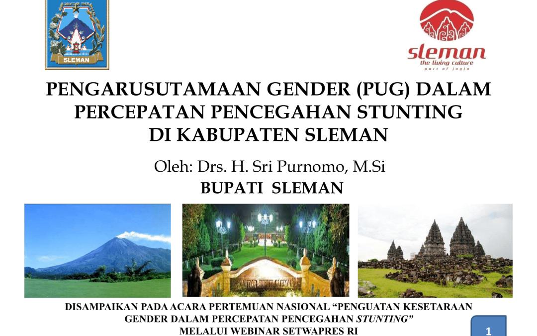 Pengarusutamaan Gender (PUG) dalam Percepatan Pencegahan Stunting di Kabupaten Sleman